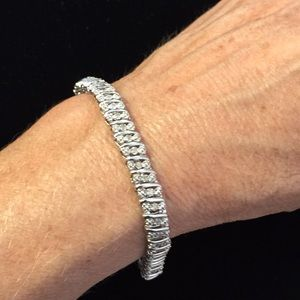 Jewelry - Sterling diamond bracelet.50cttw